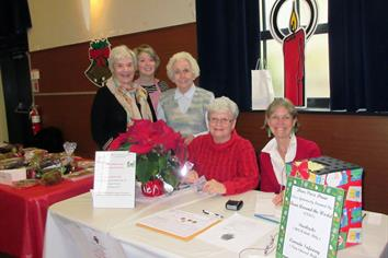 Volunteers at BCW Christmas Market