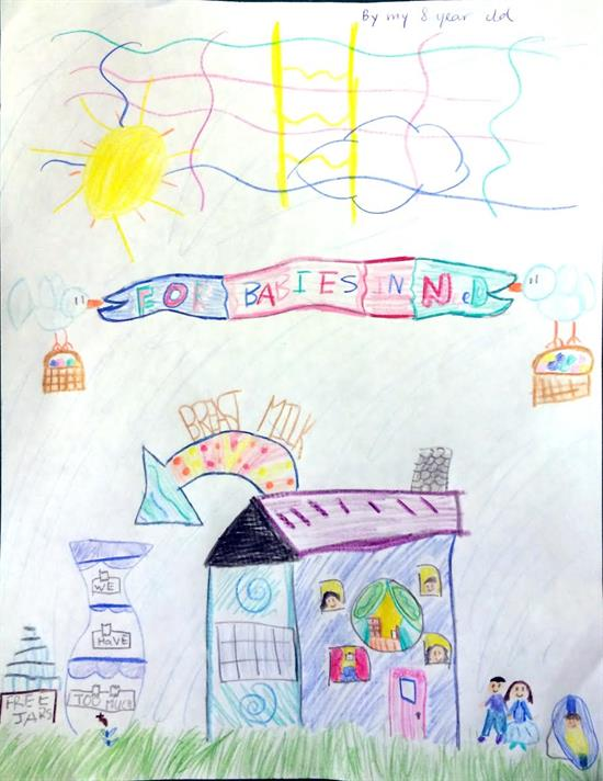 Drawing by Cecilia's daughter, aged 8